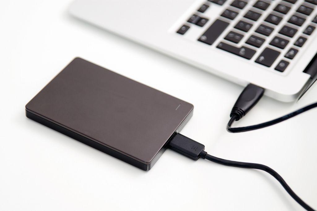 Ordinateur portable avec disque dur externe