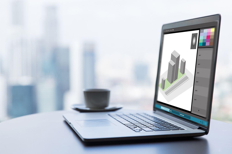 Un ordinateur portable pour les travaux de graphisme
