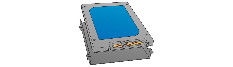 Localisez la baie de stockage pour installer le SSD.