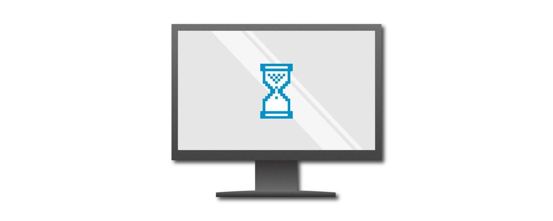Illustration d'un écran d'ordinateur affichant un minuteur bleu