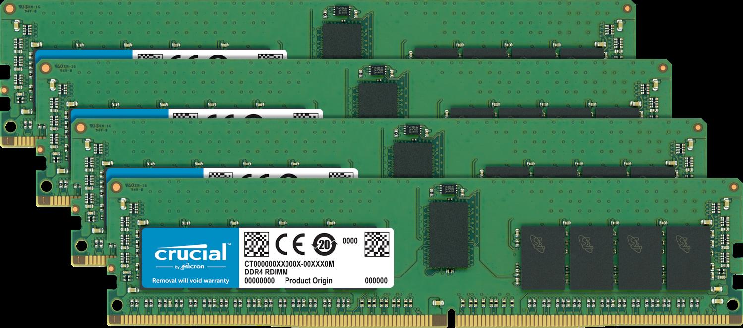 Mémoire (RAM) d'ordinateur Crucial.