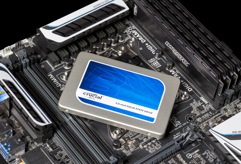 Image d'un SSD Crucial BX200 2,5pouces MB 2